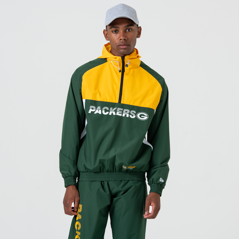 Green Bay Packers Colour Block Windbreaker Jacket
