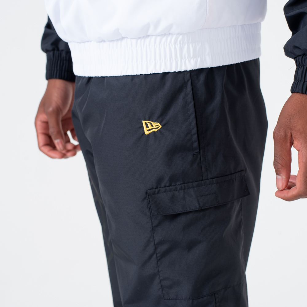 Pantalones de chándal Los Angeles Lakers Wordmark, negro