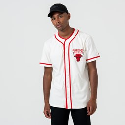 Camiseta Chicago Bulls Button Up, blanco