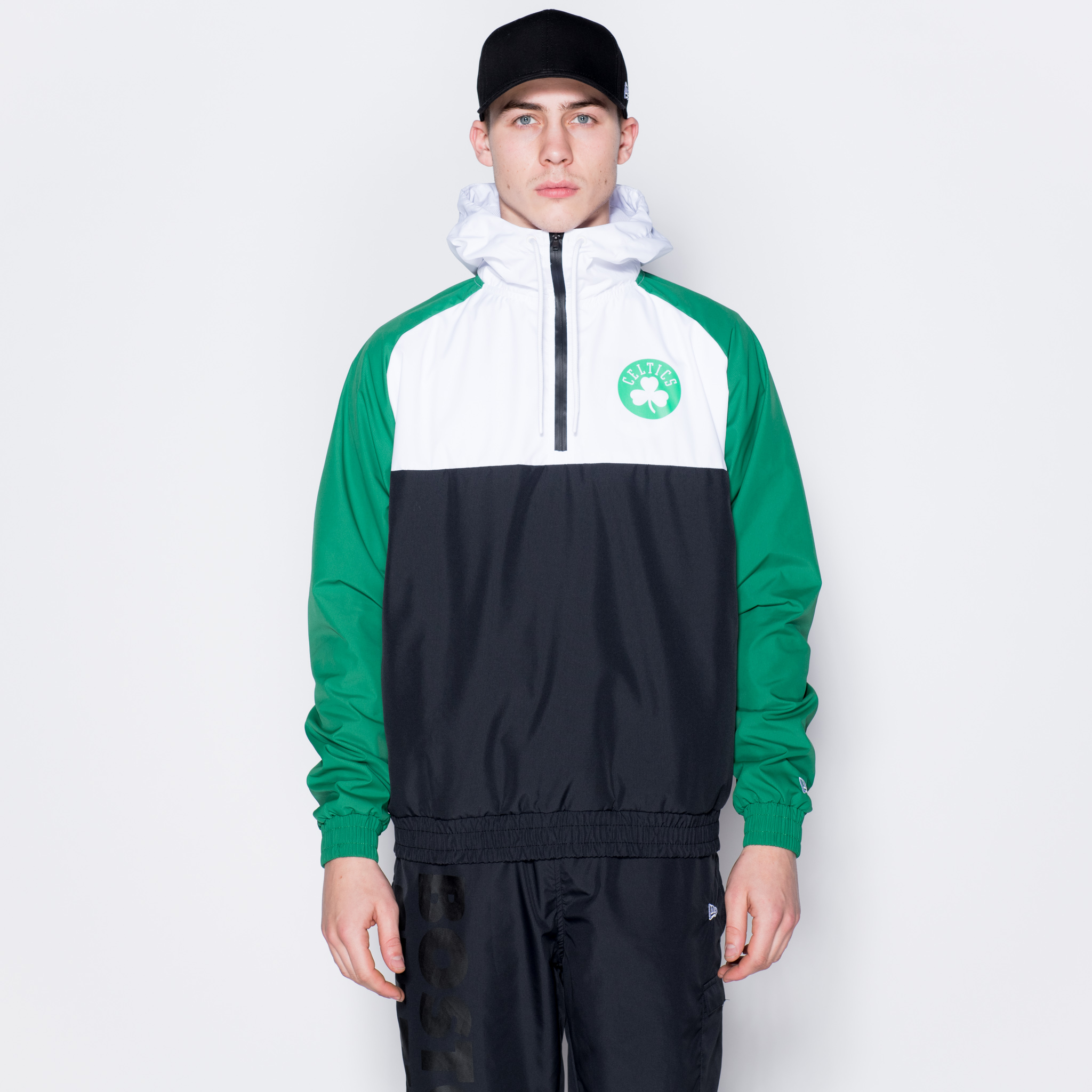 Veste coupe-vent à capuche Boston Celtics Colour Block