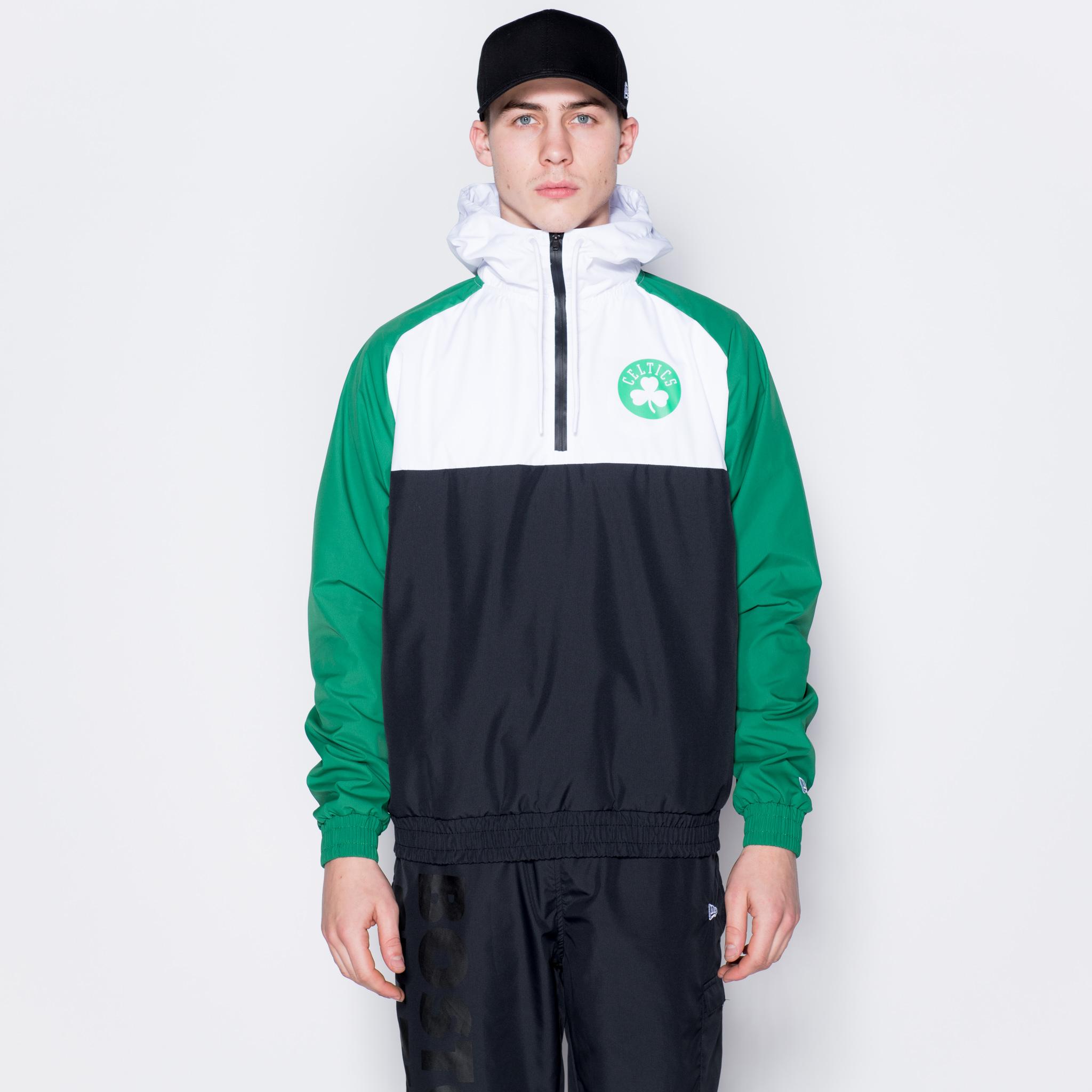 Cortavientos Boston Celtics Hooded Colour, negro
