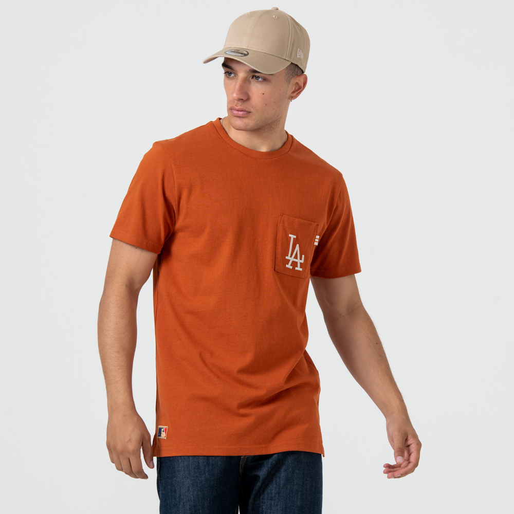 Camiseta Los Angeles Dodgers Vintage Pocket Logo, rust