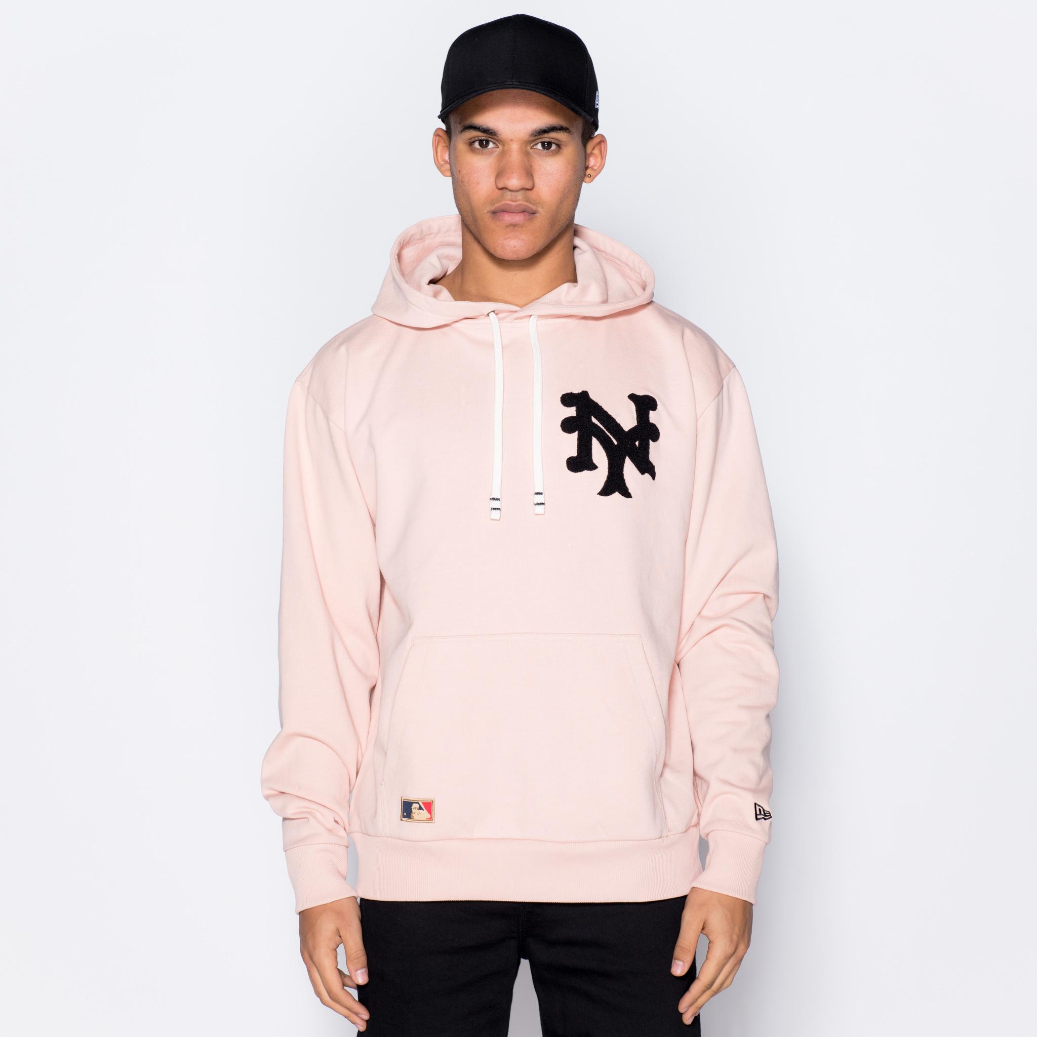 Felpa con cappuccio New York Giants Vintage Large Logo Pink