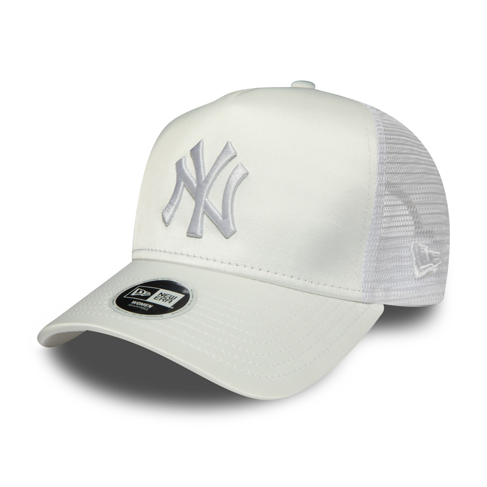 A-Frame Trucker – New York Yankees – Damen – Satin in Weiß