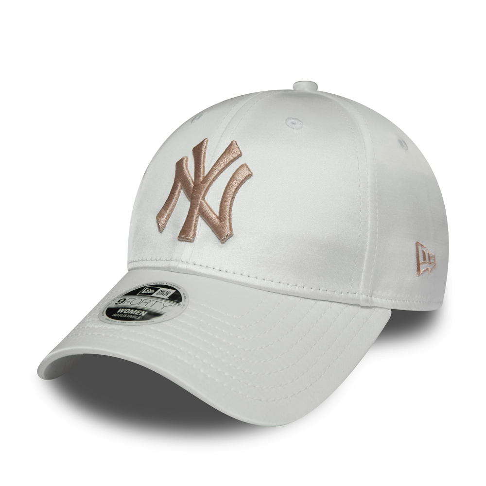 New York Yankees Satin 9FORTY blanche femme