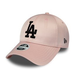 Los Angeles Dodgers Womens Pink Satin 9FORTY