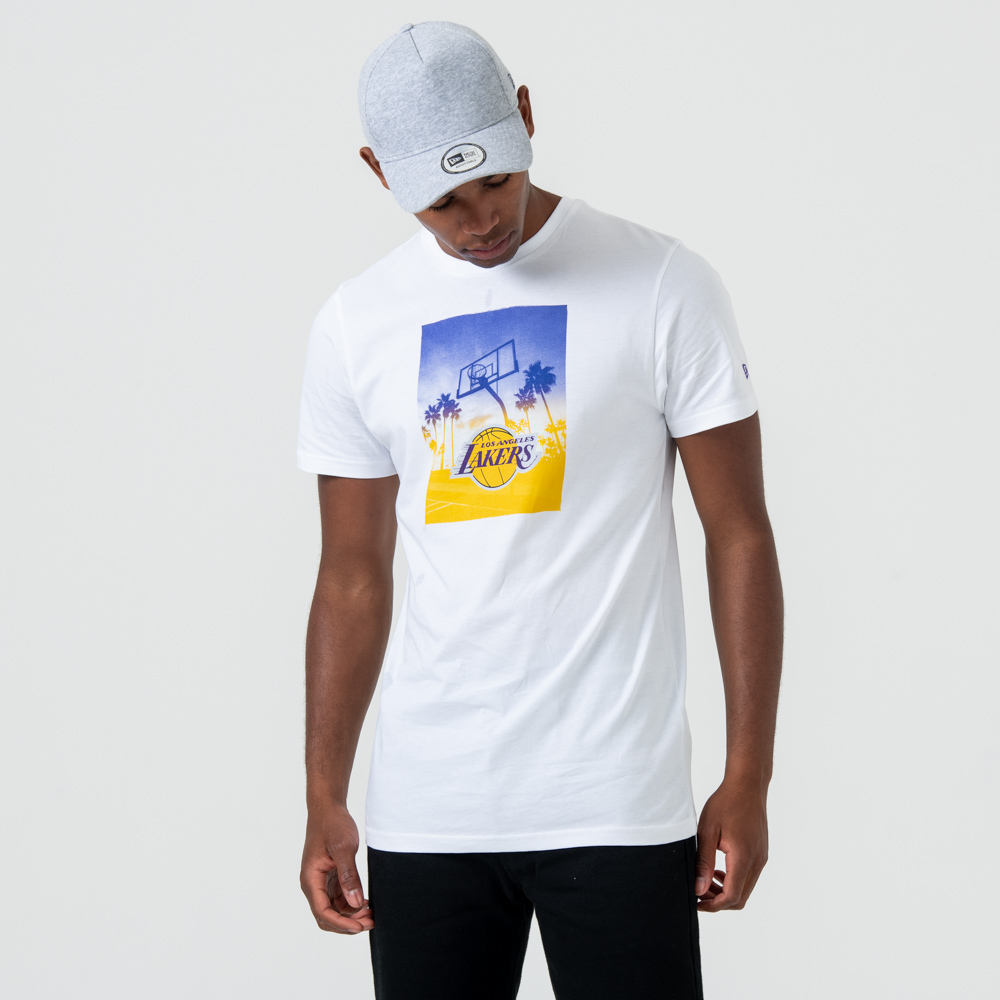 T-shirt Los Angeles Lakers Graphic Print blanc