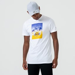 Los Angeles Lakers White Graphic Print Tee