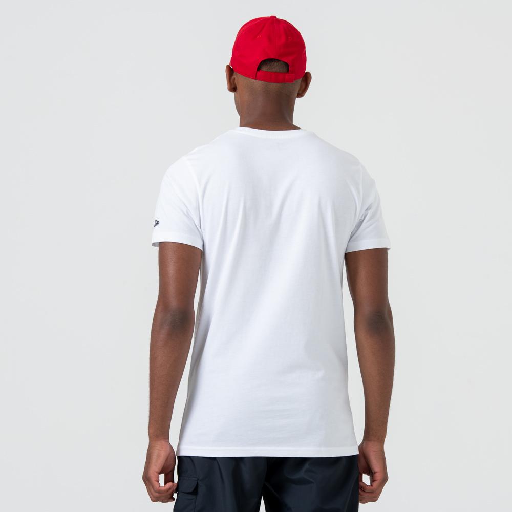 T-shirt imprimé graphique Chicago Bulls blanc