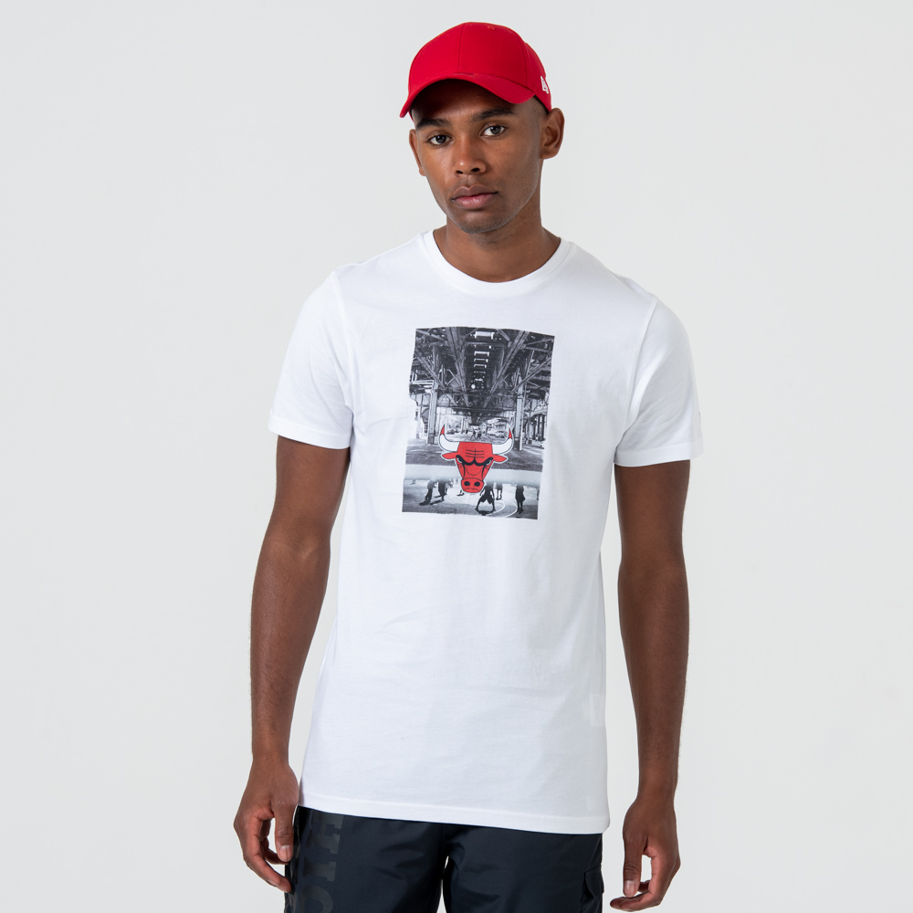 T-shirt imprimé graphique Chicago Bulls blanc