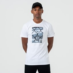 Camiseta Brooklyn Nets Graphic  Print, blanco