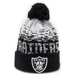 Oakland Raiders Black Sport Cuff Knit