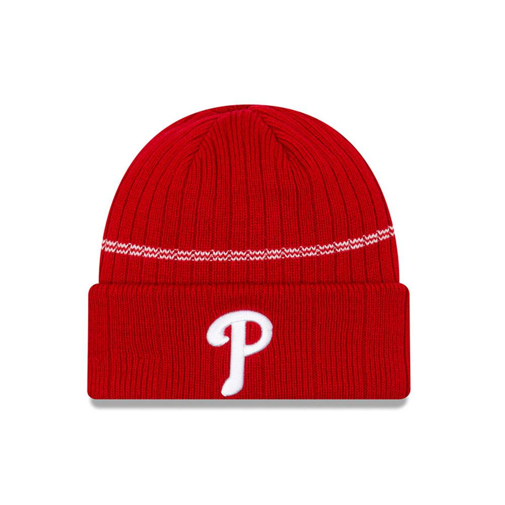 Gorro de punto con vuelta Philadelphia Phillies en azul marino