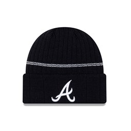 Bonnet à revers bleu marine Atlanta Braves