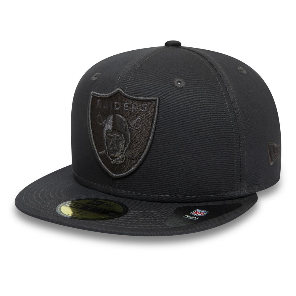 Schwarze Tonal 59FIFTY-Kappe der Oakland Raiders