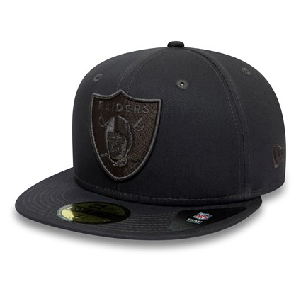 Oakland Raiders Tonal Black 59FIFTY Cap
