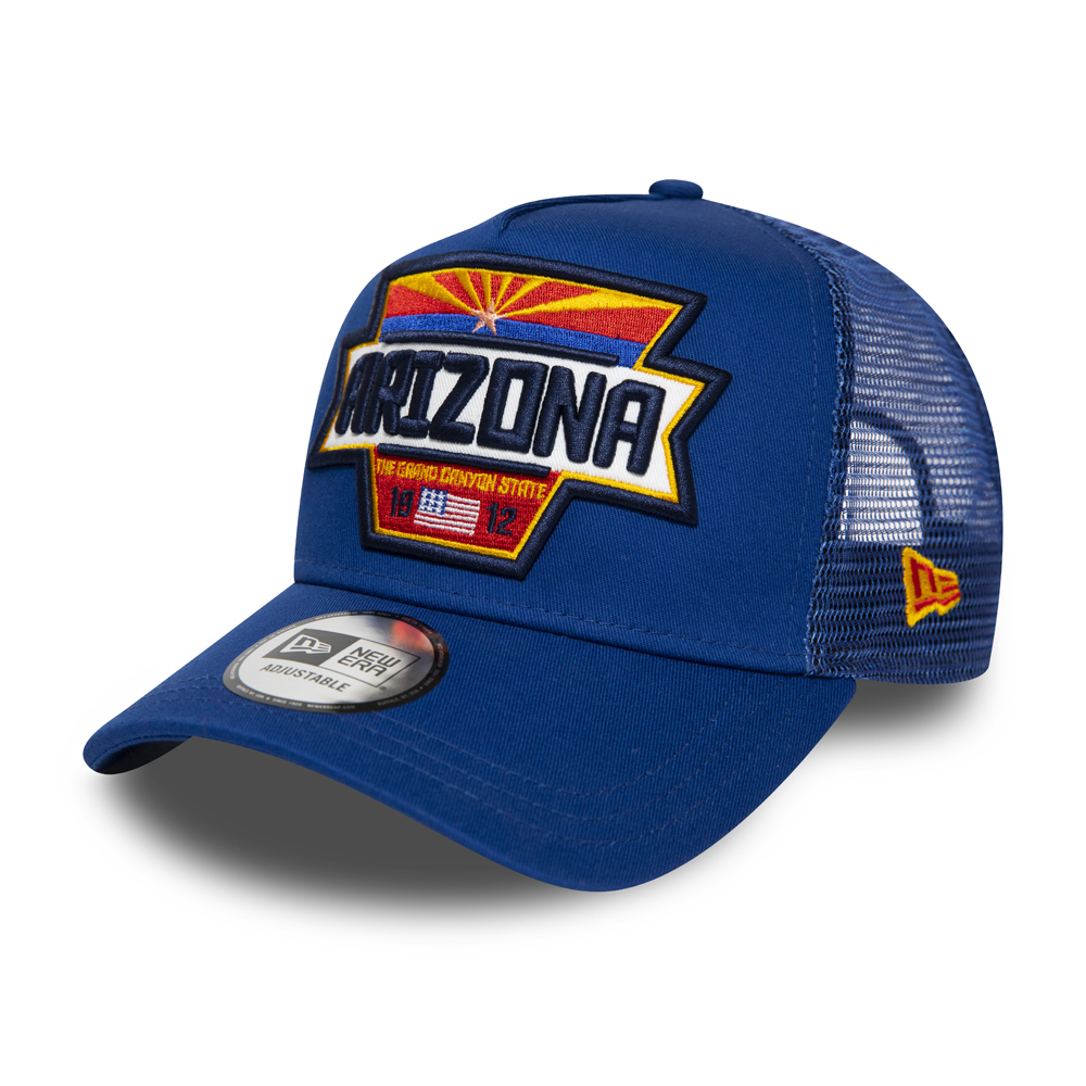 Gorra trucker New Era Arizona Patch A Frame, azul