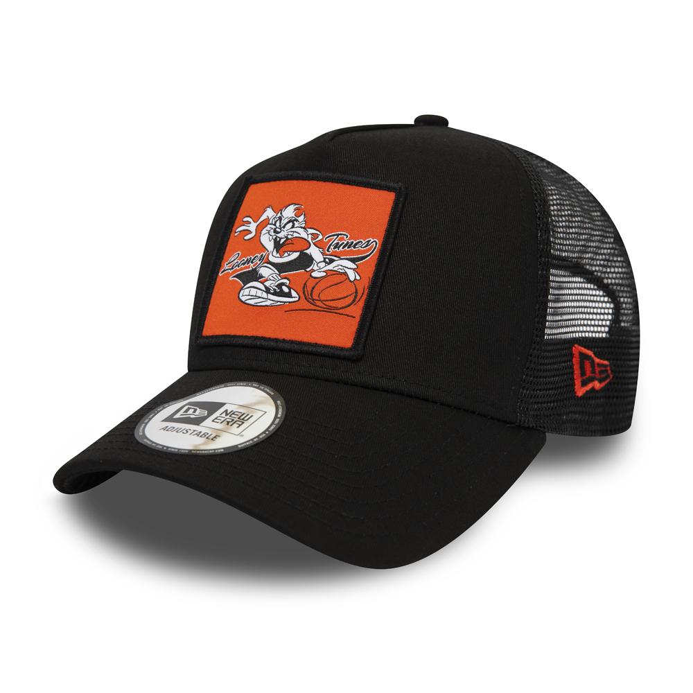 Trucker-Kappe mit Taz Aufnäher und A-Frame in Schwarz