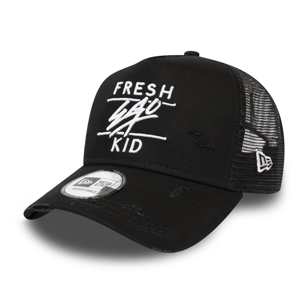 Gorra trucker Fresh Ego Kid A Frame, negro