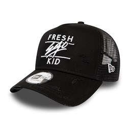 Fresh Ego Kid Black A Frame Trucker Cap