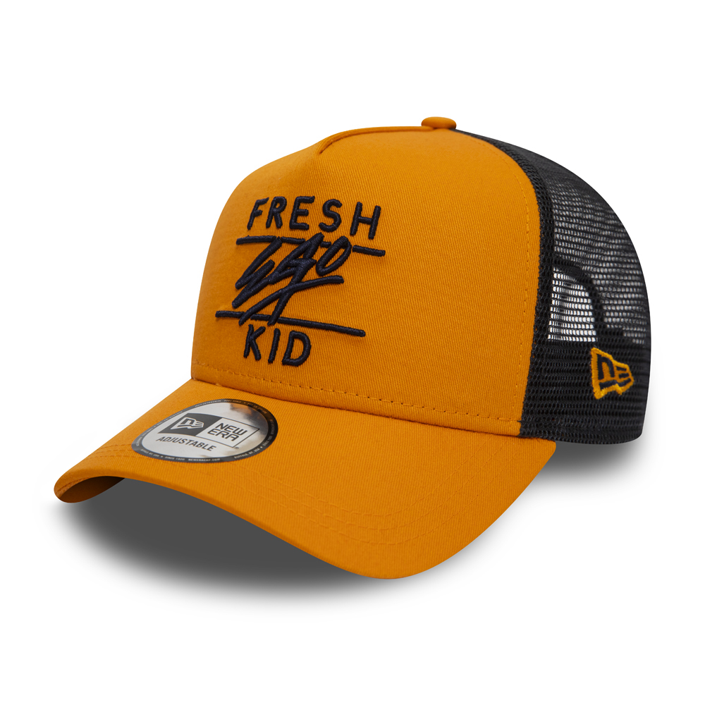 Fresh Ego Kid Trucker-Kappe mit A-Frame in Orange