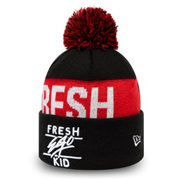 Bonnet à pompon et revers Fresh Ego Kid noir