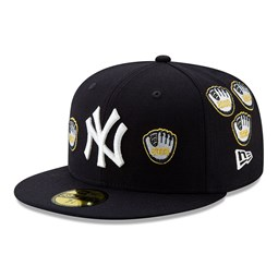 Gant à bordures dorées New York Yankees X Spike Lee Championship 59FIFTY