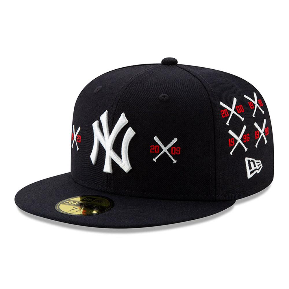 """New York Yankees 59FIFTY-Championship-Kappe mit gekreuzten Schlägern """"X Spike Lee"""""""