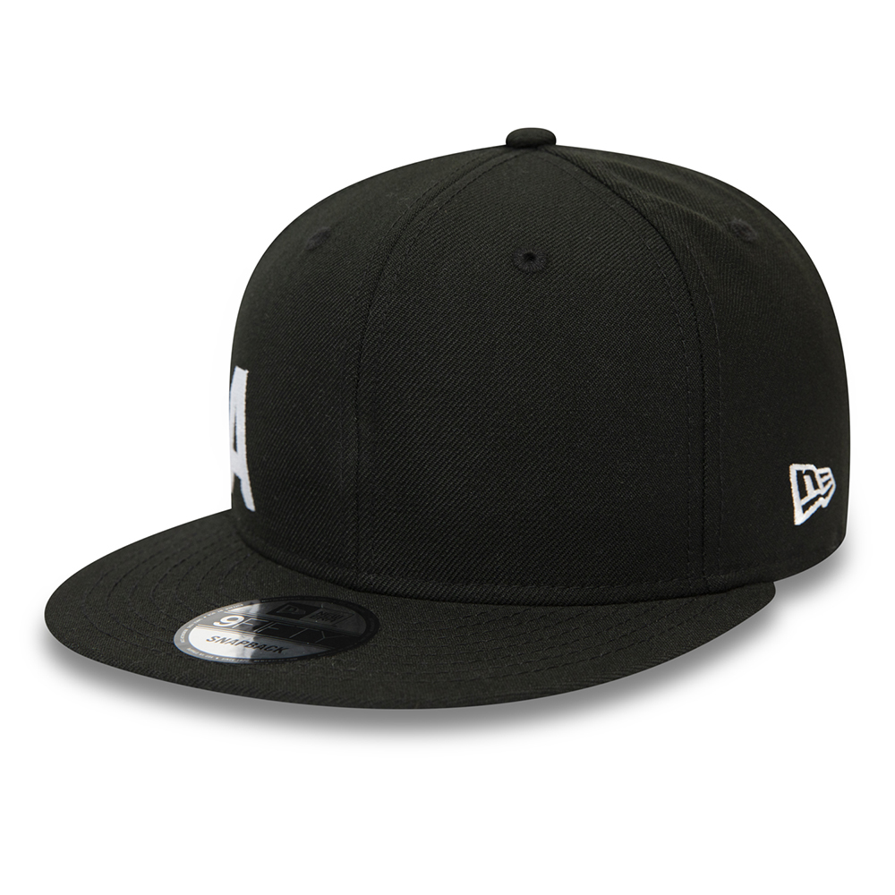 Cappellino New Era Wordmark Essential Black 9FIFTY