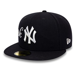 "New York Yankees 59FIFTY-Kappe ""Pizza Chef"" in Marineblau."