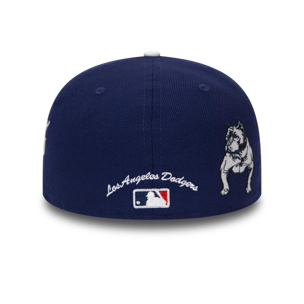 Los Angeles Dodgers 59FIFTY-Kappe mit Bulldoggenfeld in Marineblau