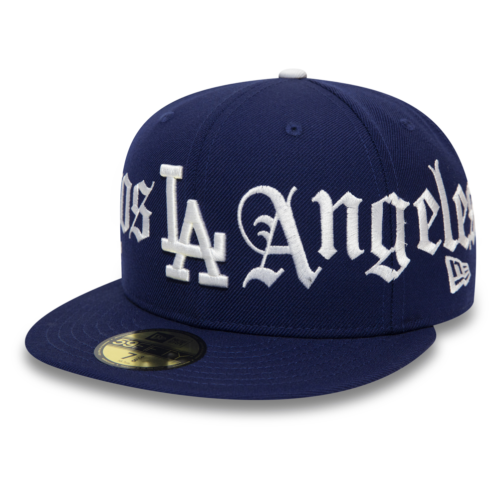 Cappellino Bulldog Panel Navy 59FIFTY dei Los Angeles Dodgers