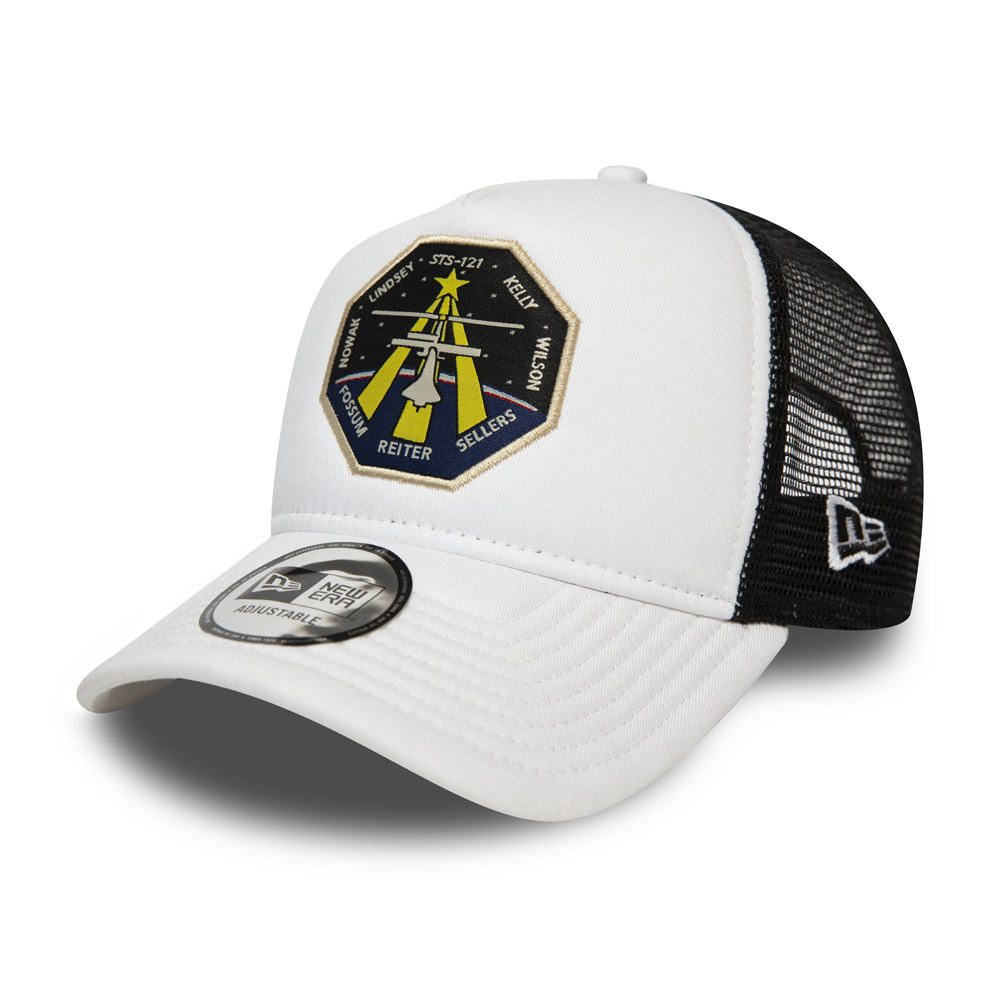 Casquette trucker New Era x Archives Spatiales Internationales {[#0]}FORTY blanc