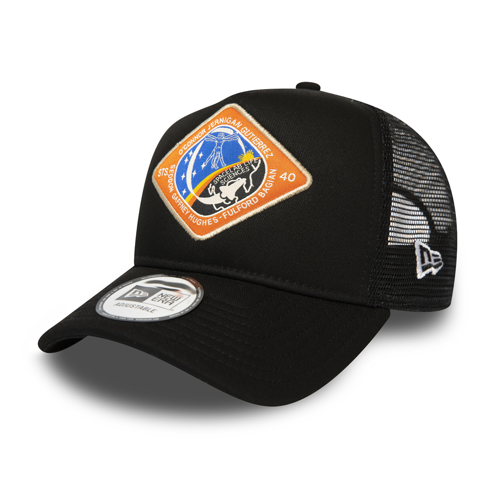 New Era x International Space Archives Black Trucker
