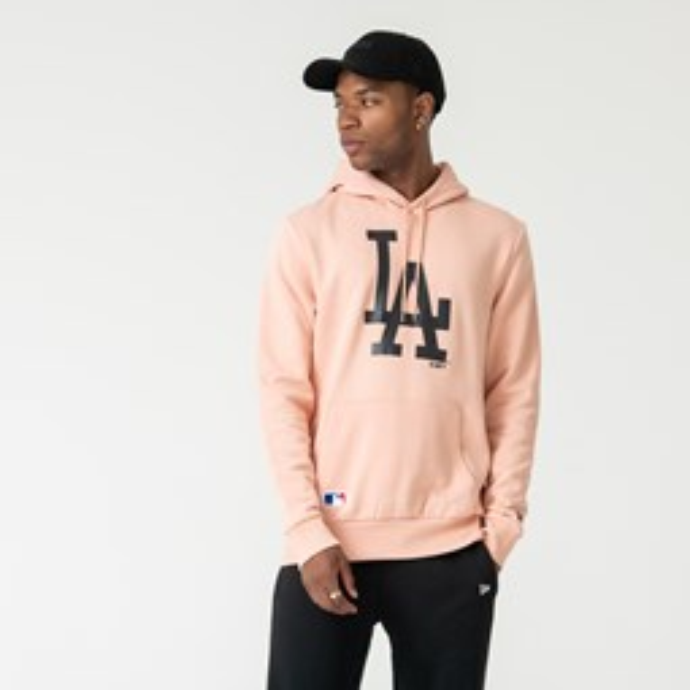 Felpa con cappuccio Logo Pullover rosa dei Los Angeles Dodgers