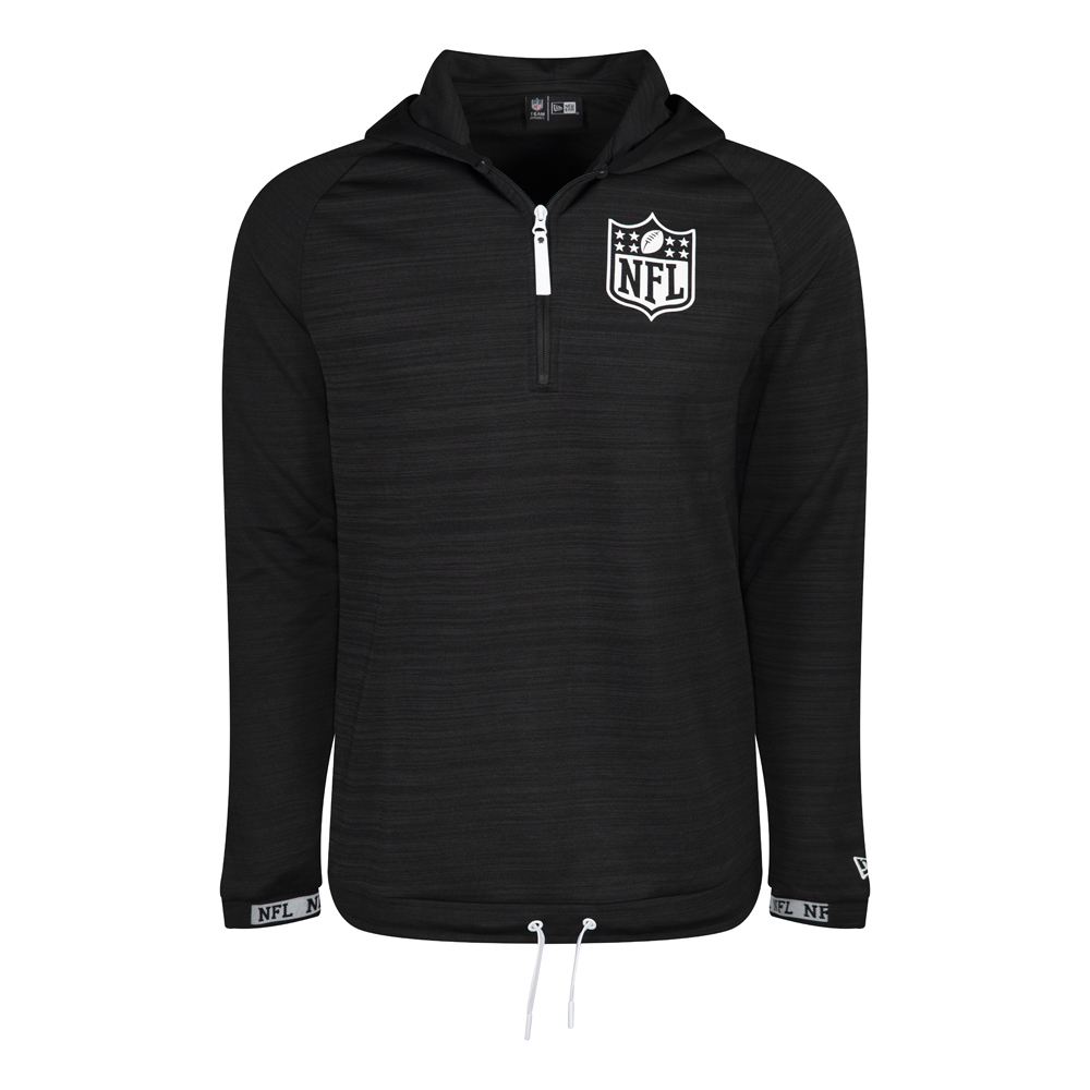 NFL Logo Engineered Black Half Zip Hoodie