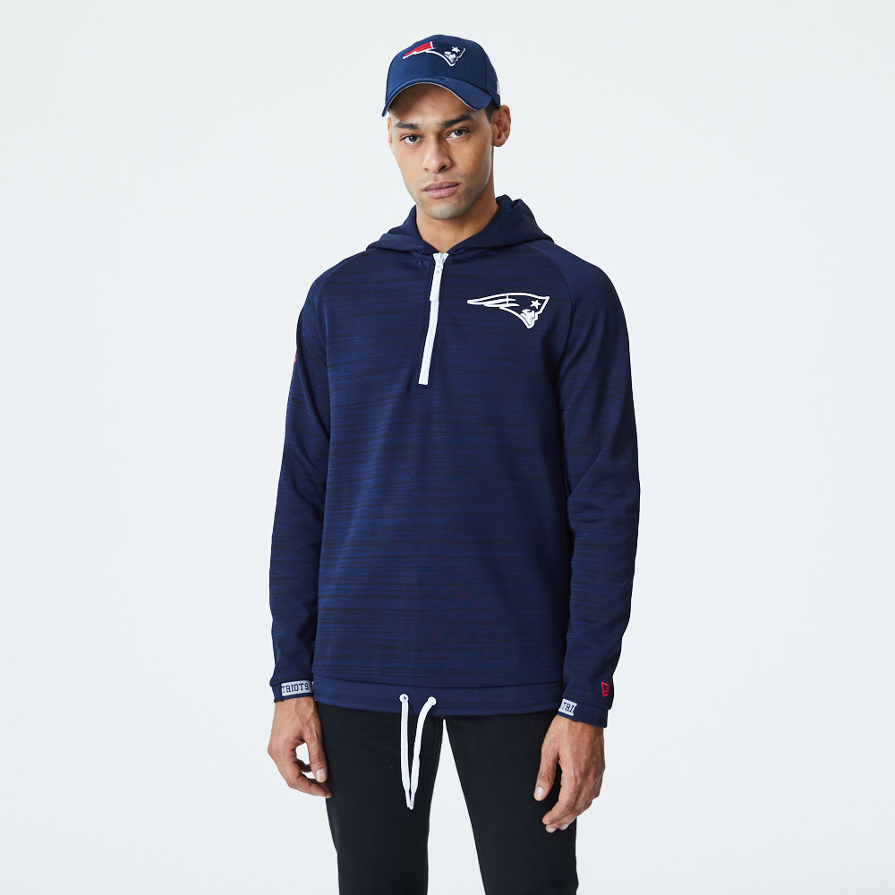 New England Logo Engineered Half Zip Hoodie