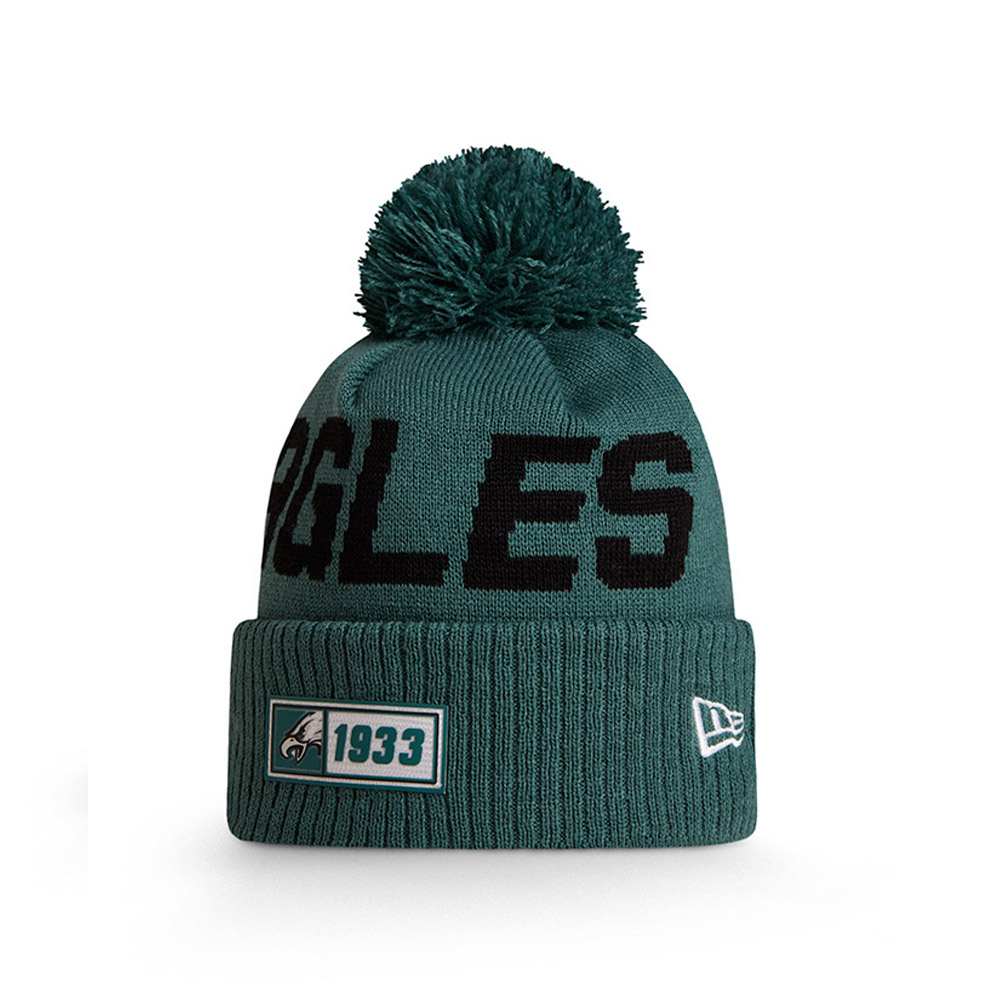 Bonnet Philadelphia Eagles vert en maille on field