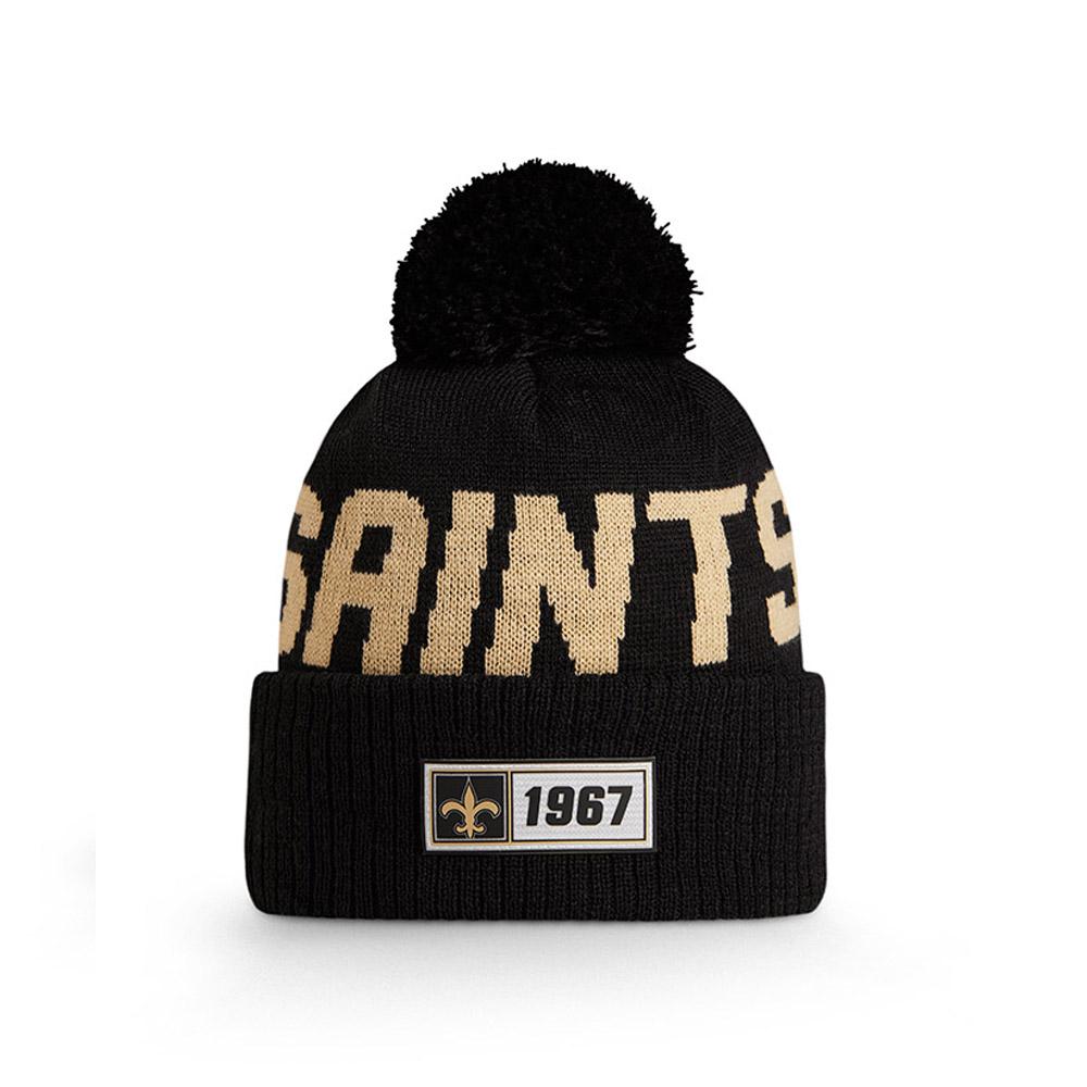Bonnet New Orleans Saints en maille on field