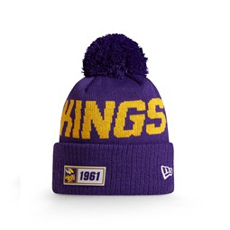 Bonnet Minnesota Vikings Purple en maille on field