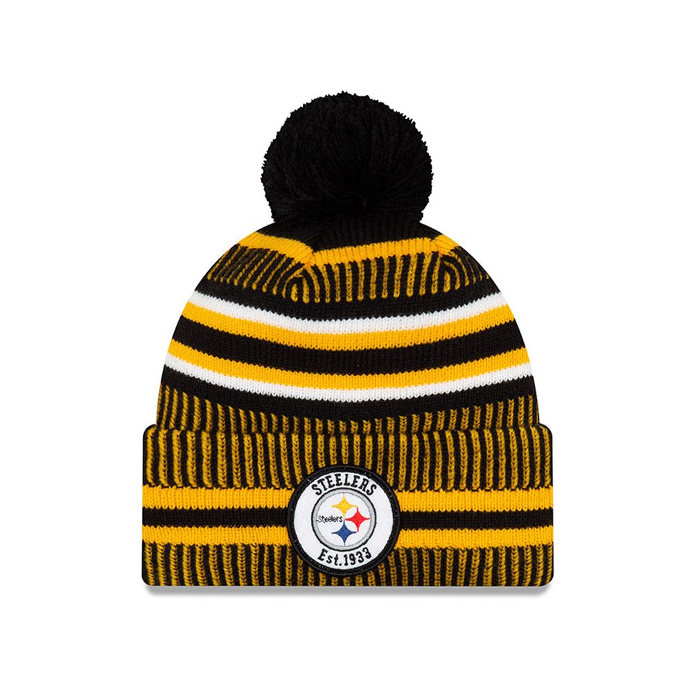 Bonnet Pittsburgh Steelers en maille on field home