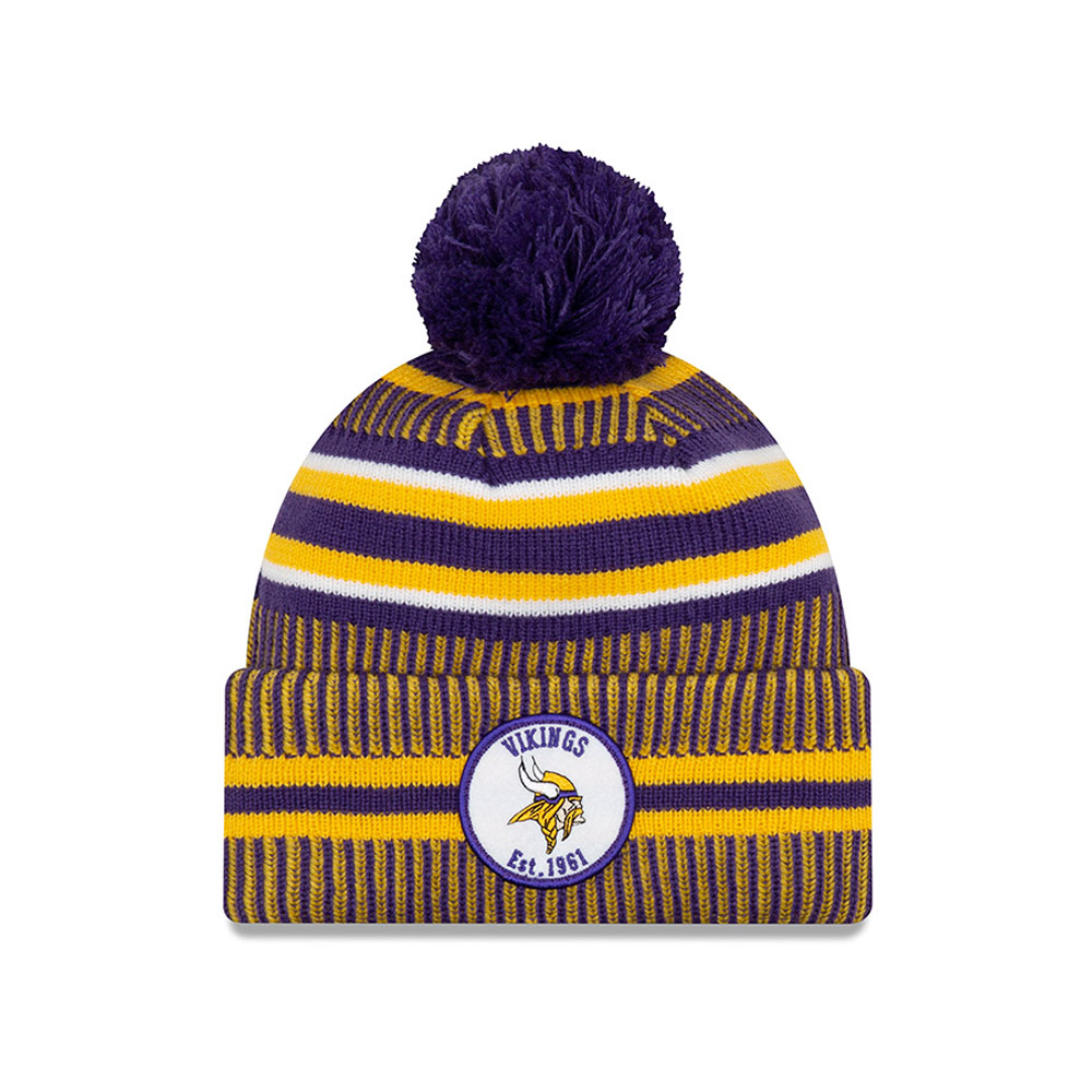 Bonnet Minnesota Vikings en maille on field home