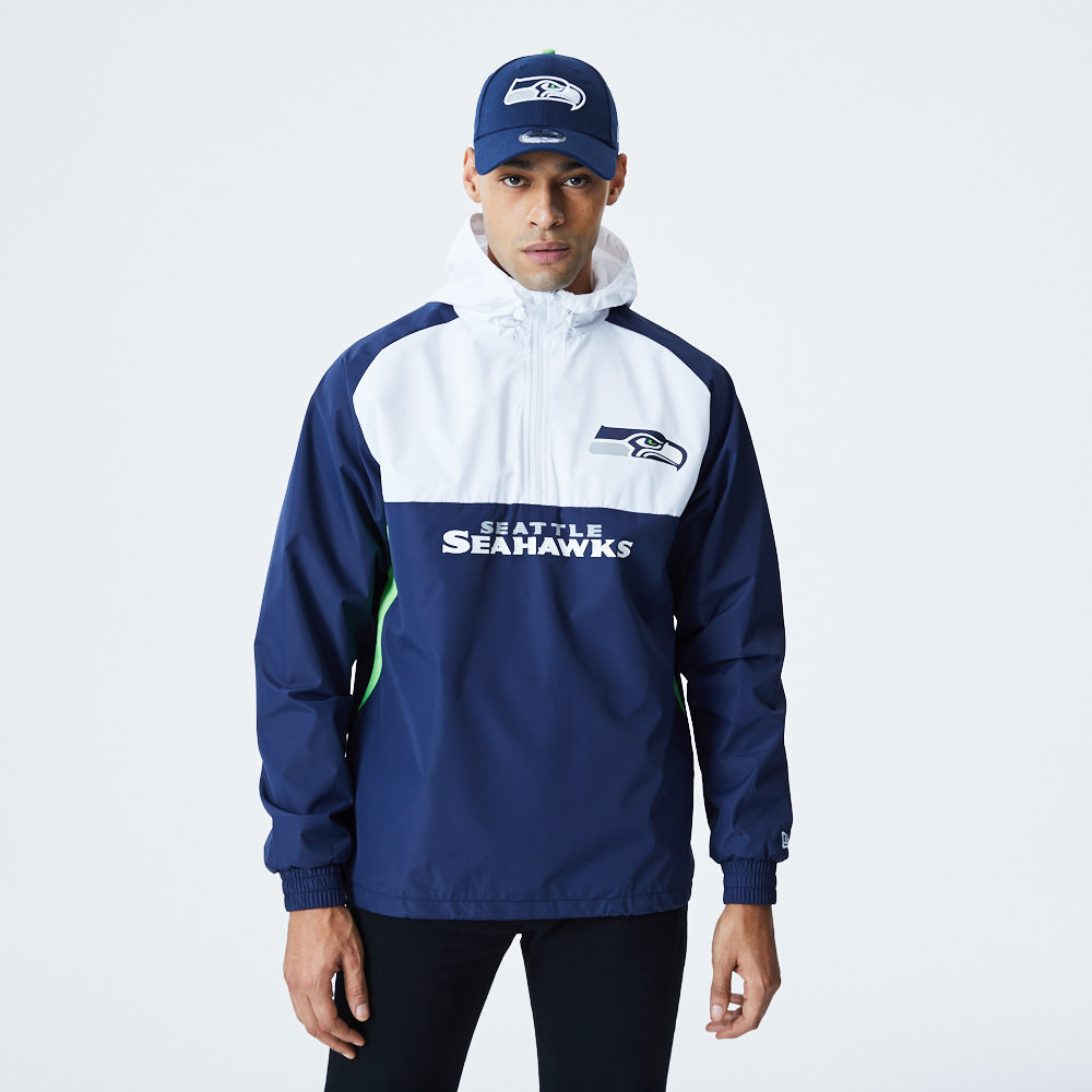 Seattle Seahawks Colour Block Windbreaker Jacket