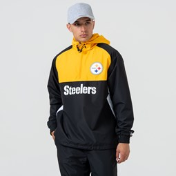Veste coupe-vent à empiècements de couleur des Steelers de Pittsburgh