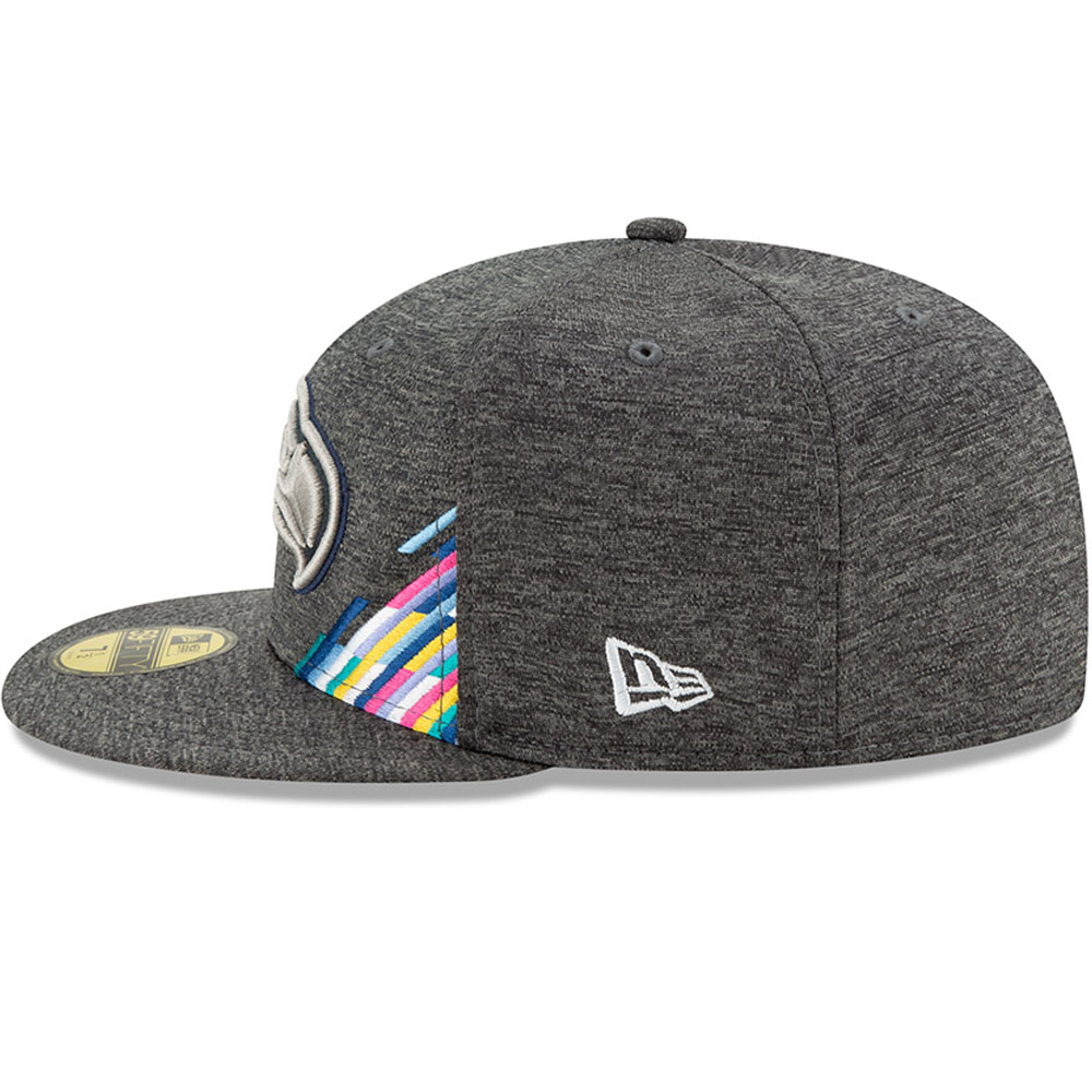 Seattle Seahawks Crucial Catch Grey 59FIFTY Cap