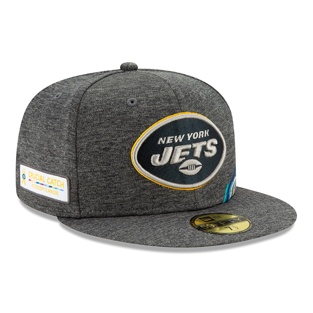 Cappellino 59FIFTY New York Jets Crucial Catch grigio