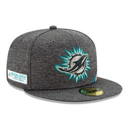 Gorra Miami Dolphins Crucial Catch 59FIFTY, gris