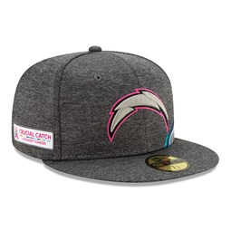 Gorra Los Angeles Chargers Crucial Catch 59FIFTY, gris