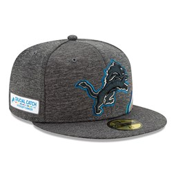 Detroit Lions Crucial Catch Grey 59FIFTY Cap