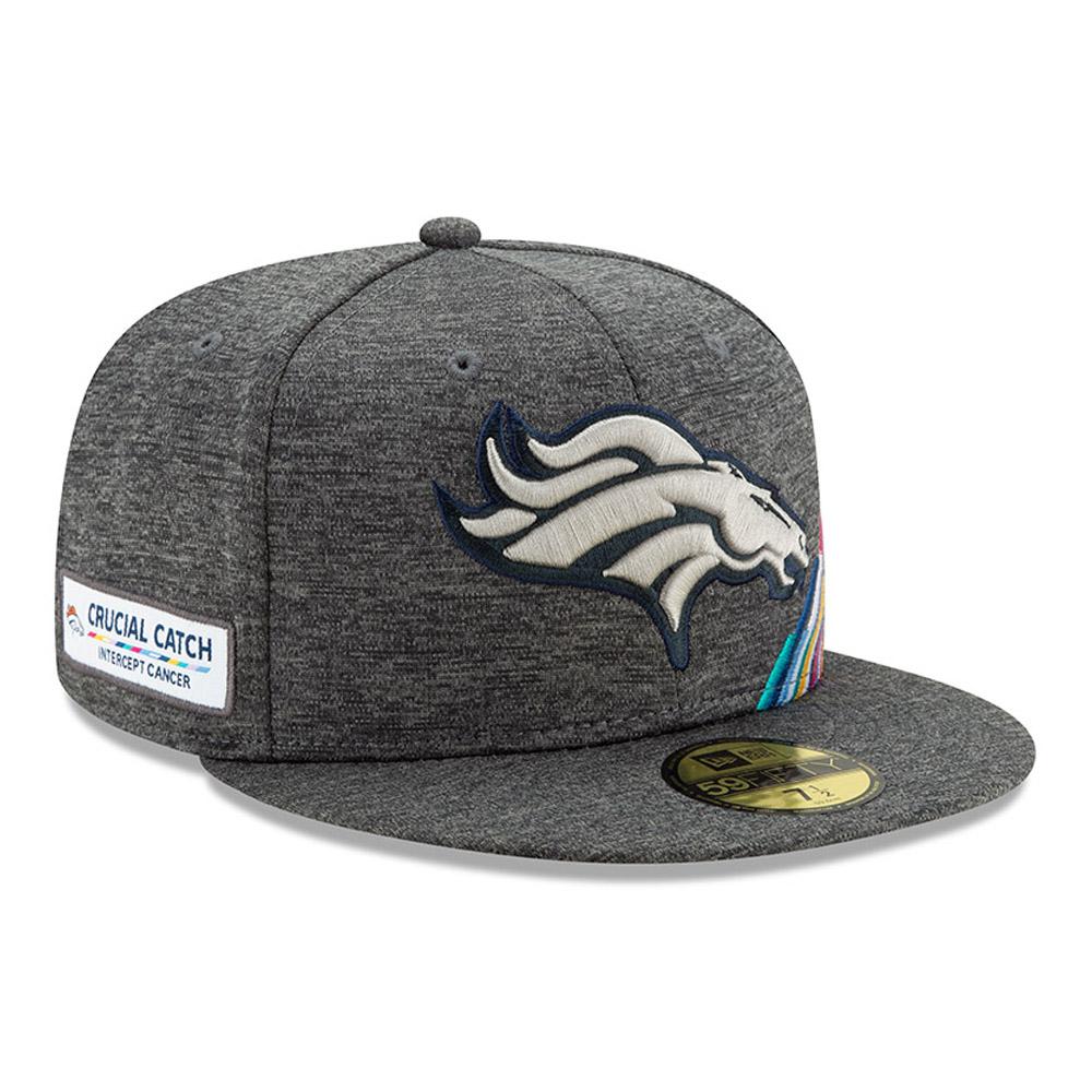 Cappellino 59FIFTY Crucial Catch grigio dei Denver Broncos